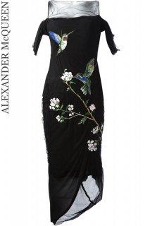 7号【レンタルドレス】Product code:01045 | ALEXANDER McQUEEN Hummingbird Embroidered Gown(アレキサンダーマックイーン 刺繍ドレス)