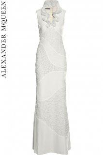 7号【レンタルドレス】PRD CODE:01046 | ALEXANDER McQUEEN Streamlined lace & Velvet Gown(アレキサンダー・マックイーン ドレス)