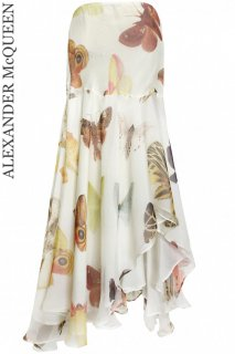 9号【レンタルドレス】Product code:01047 | ALEXANDER McQUEEN Butterfly Silk Long Skirt(アレキサンダー マックイーン ロングスカート)