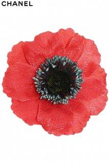 10cm【レンタルアクセサリー】Product code:10002 | CHANEL Red Poppy Brooch(シャネル ポピー ブローチ)