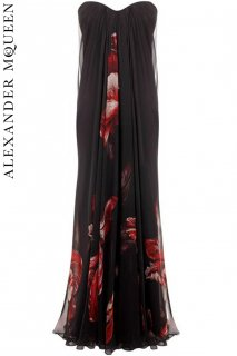 9号【レンタルドレス】PRD CODE:01019 | ALEXANDER McQUEEN Tulip Print Silk Chiffon Gown(アレキサンダー・マックイーン ドレス)