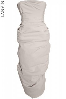 7号■レンタルドレス■Product code:17010 | LANVIN 2011 Sleeveless draped strapless zip up dress(ランバン ドレス)