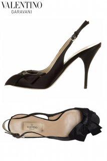 24.0,26.0cm【レンタルシューズ】Product code:00016 | VALENTINO GARAVANI Black Silk Satin Shoes(ヴァレンティノ シューズ)