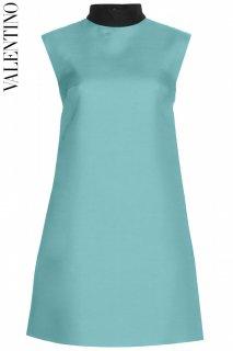 7号【レンタルドレス】PRD CODE:00096 | VALENTINO Wool & Silk Blend Turquoise Blue Mini Dress(ヴァレンティノ ドレス)