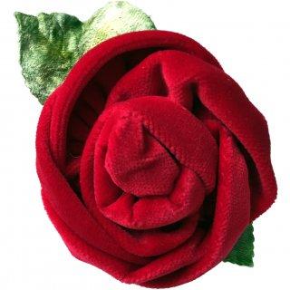 レンタルアクセサリー■Product code:00062 | RED VALENTINO Velvet red rose corsage Barrette(レッド ヴァレンティノ バレッタ)