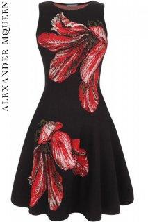 7号【レンタルドレス】PRD CODE:01050 | ALEXANDER McQUEEN Tulip Jacquard Knit Dress(アレキサンダー・マックイーン ドレス)
