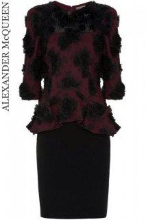 7号【レンタルドレス】Product code:01021 | ALEXANDER McQUEEN Lace Applique Peplum Dress(アレキサンダー・マックイーン ドレス)
