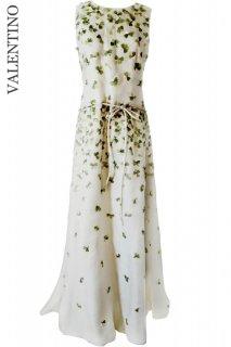 11号【レンタルドレス】PRD CODE:00100 | VALENTINO Embroidered Clover Tulle Gown(ヴァレンティノ ドレス/ウェディングドレスドレス)