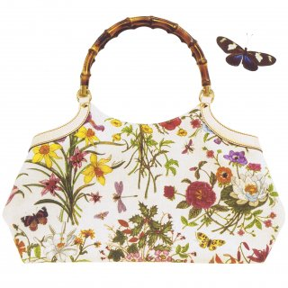 レンタルバッグ■Product code:02013 | GUCCI Flora Collection 2005  Floral print Bamboo bag(グッチ バッグ)