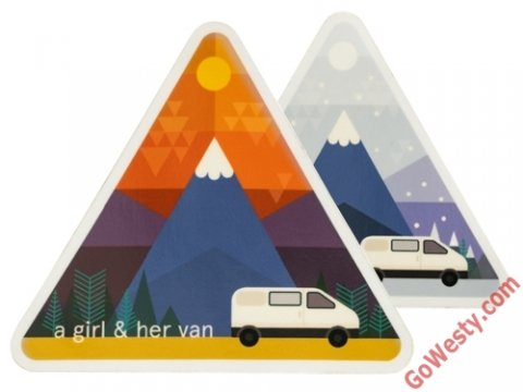 GOWESTY Girl and Her Van (T4イメージ) ステッカー