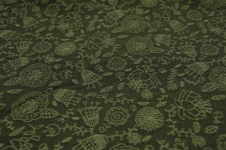 [広幅] Flowers -グリーンティー -