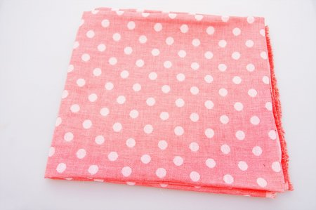 [お試し価格] Wガーゼ水玉 ピンク