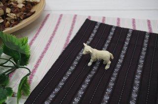 ジャカード織 縦ライン花柄