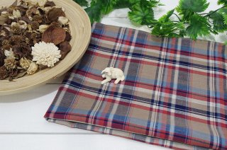 タータンチェック綾織りベージュ系