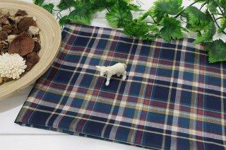 タータンチェック綾織りブルー系