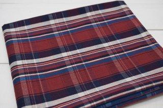 タータンチェック綾織りレッド系