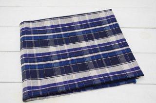 タータンチェック 綾織り ブルー系