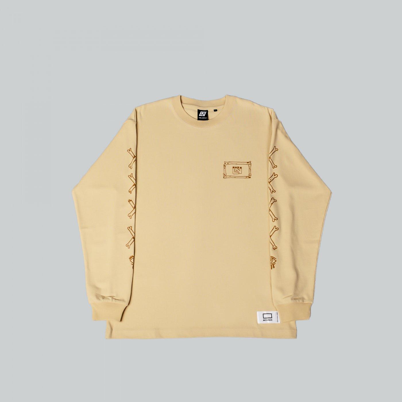 UNKINDNESS × AVGS × BOTANIZE   Long sleeve t-shirt  BEIGE
