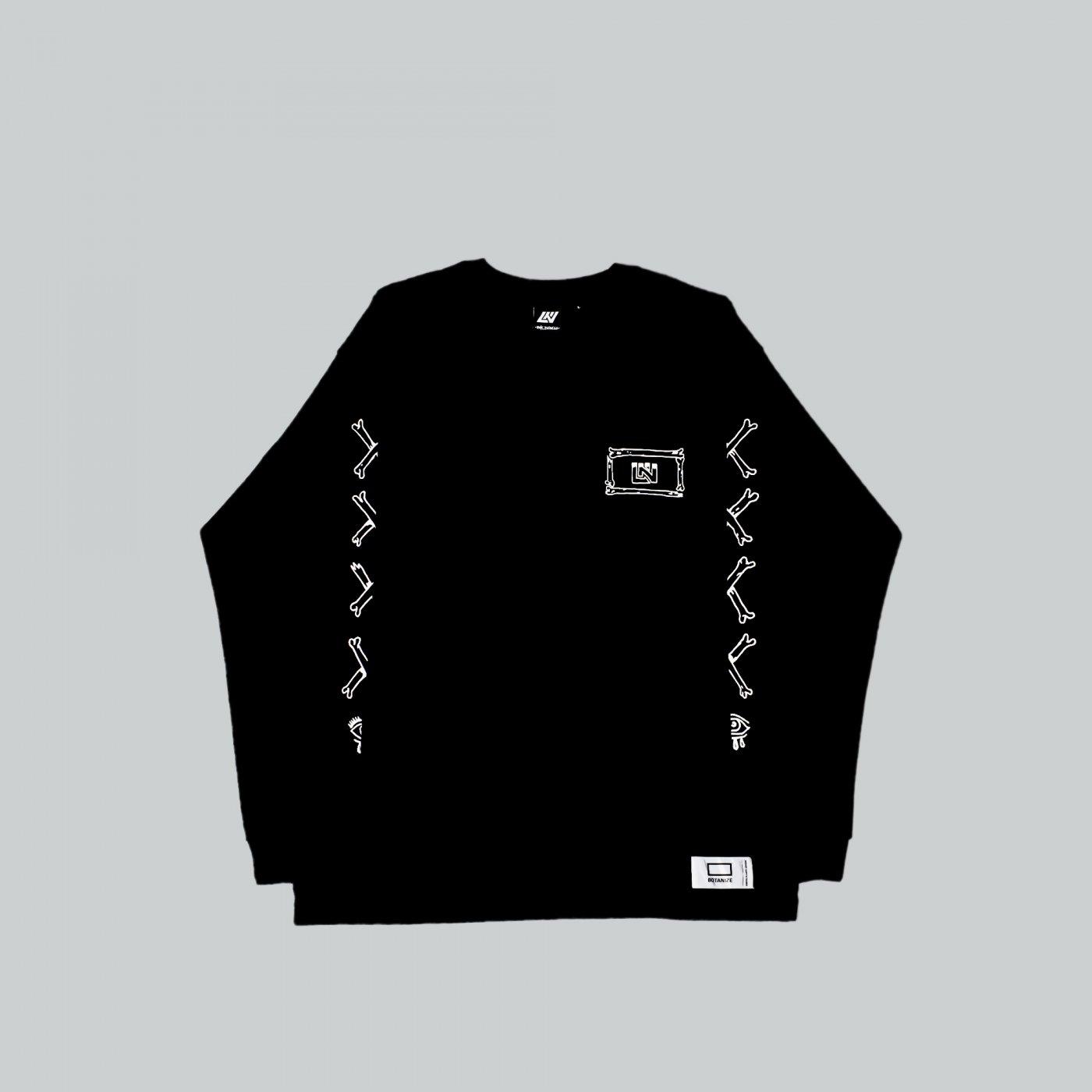 UNKINDNESS × AVGS × BOTANIZE   Long sleeve t-shirt  BLACK