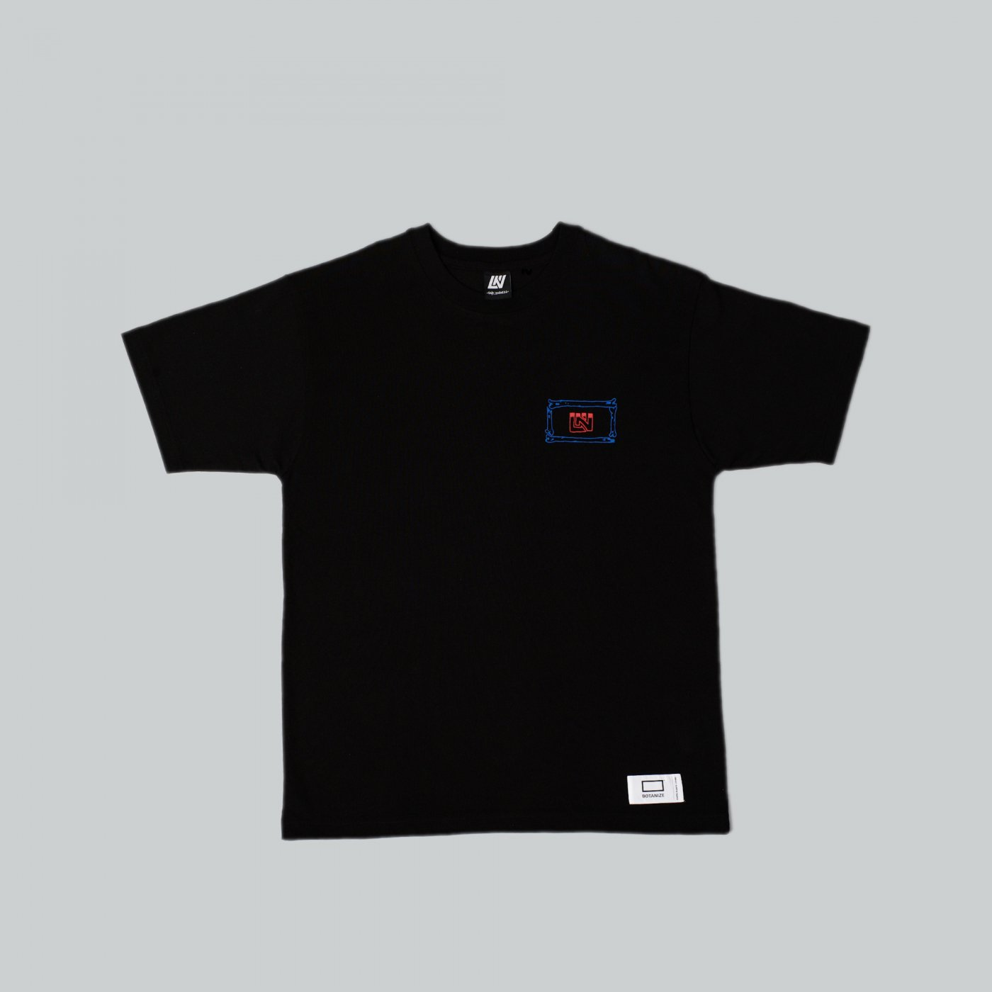 UNKINDNESS × AVGS × BOTANIZE  t-shirt  BLACK