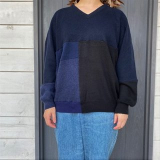 <img class='new_mark_img1' src='https://img.shop-pro.jp/img/new/icons47.gif' style='border:none;display:inline;margin:0px;padding:0px;width:auto;' />YOUSED Cashmere Remake Patchwork Sweater (1)/ A
