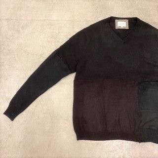 <img class='new_mark_img1' src='https://img.shop-pro.jp/img/new/icons47.gif' style='border:none;display:inline;margin:0px;padding:0px;width:auto;' />YOUSED Cashmere Remake Patchwork Sweater (2)/ C