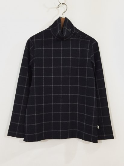 OPEN TURTLE NECK(NAVY CHECK)