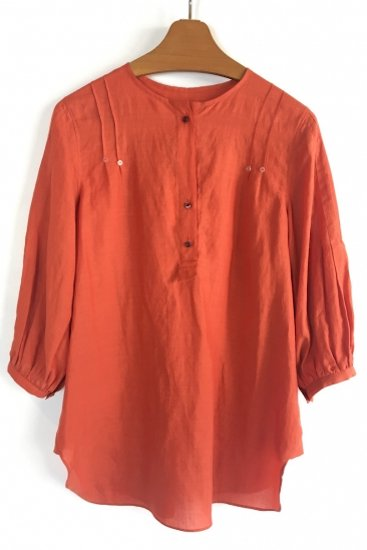 PUFF SLEEVE SHIRT (RED)