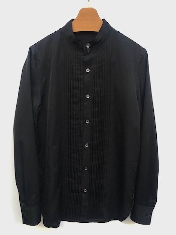 TUCK DRESS SHIRT (BLACK)