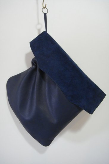 LEATHER BAG (NAVY)
