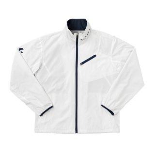 Uni ウィンドウォーマーシャツ(ホワイト×ネイビー) XLW4760
