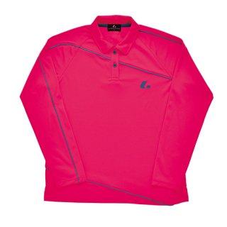 Ladies 長袖ポロシャツ(ピンク) XLP4701
