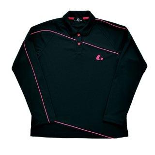 Ladies 長袖ポロシャツ(ブラック) XLP4709
