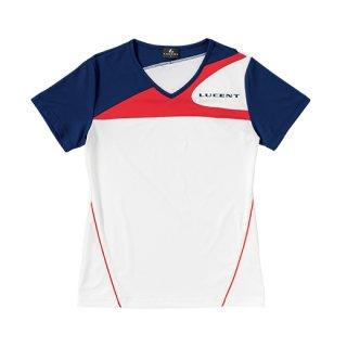 Ladies ゲームシャツ〔襟なし〕(ホワイト) XLH2250