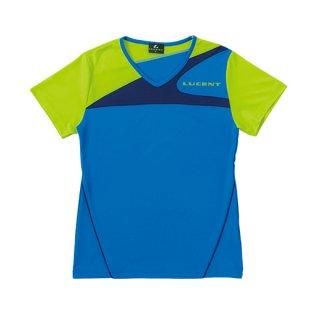 Ladies ゲームシャツ〔襟なし〕(ブルー) XLH2257