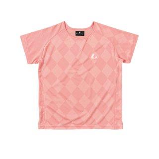 Ladies ゲームシャツ〔襟なし〕(ピンク) XLH2271