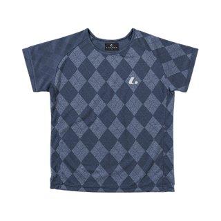 Ladies ゲームシャツ〔襟なし〕(ネイビー) XLH2276