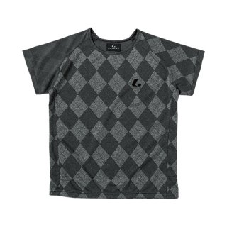 Ladies ゲームシャツ〔襟なし〕(ブラック) XLH2279