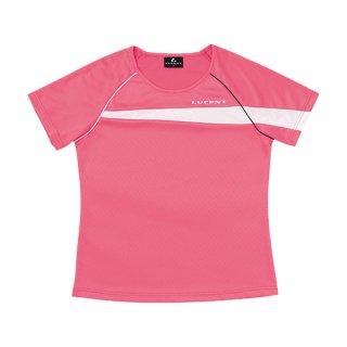 Ladies ゲームシャツ〔襟なし〕(ピンク) XLH2311