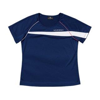 Ladies ゲームシャツ〔襟なし〕(ネイビー) XLH2316