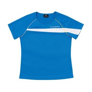 Ladies ゲームシャツ〔襟なし〕(ブルー) XLH2317