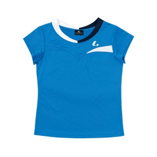 Ladies ゲームシャツ〔襟なし〕(ブルー) XLH2327