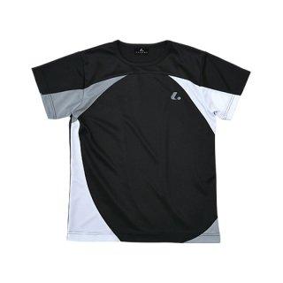 Ladies ゲームシャツ〔襟なし〕(ブラック) XLH2249