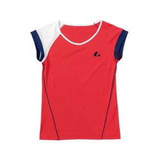 Ladies ゲームシャツ〔襟なし〕(レッド) XLH2281