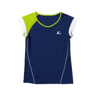 Ladies ゲームシャツ〔襟なし〕(ネイビー) XLH2286