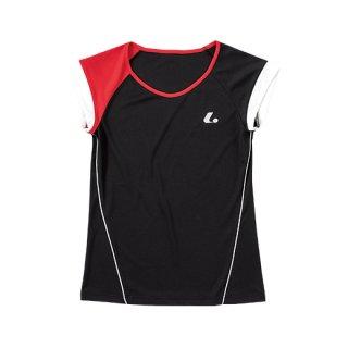 Ladies ゲームシャツ〔襟なし〕(ブラック) XLH2289