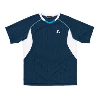 Uni ゲームシャツ〔襟なし〕(ネイビー) XLH3036