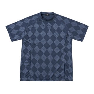 Uni ゲームシャツ〔襟なし〕(ネイビー) XLH1986