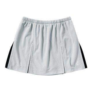 Ladies スカート〔インナースパッツ付〕(シルバーグレー×ブラック) XLK1274