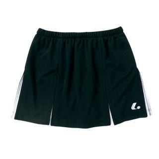 Ladies スカート〔インナースパッツ付〕(ブラック×シルバーグレー) XLK1279